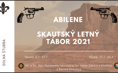 Skautský tábor 2021 – Abilene